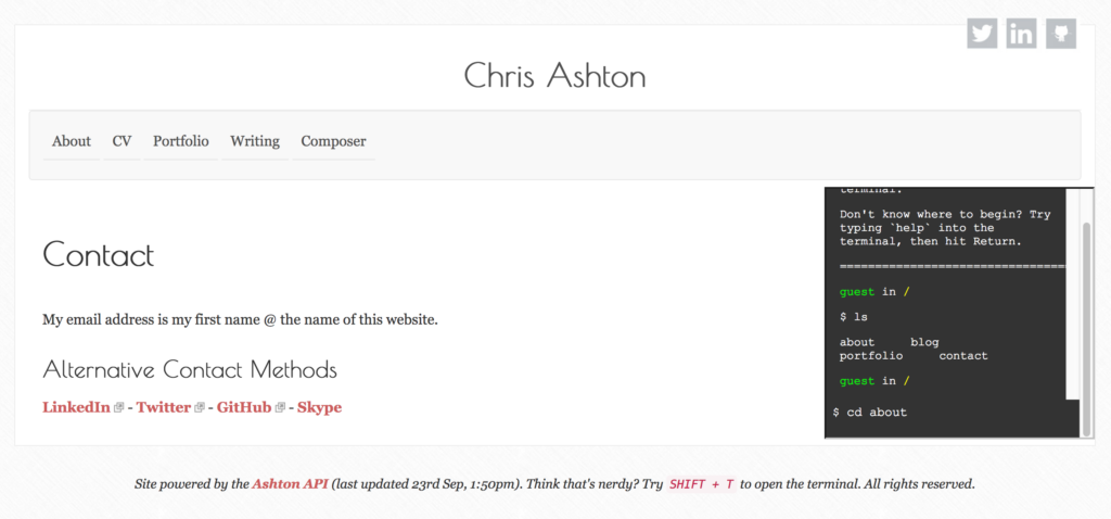 Chris Ashton's website